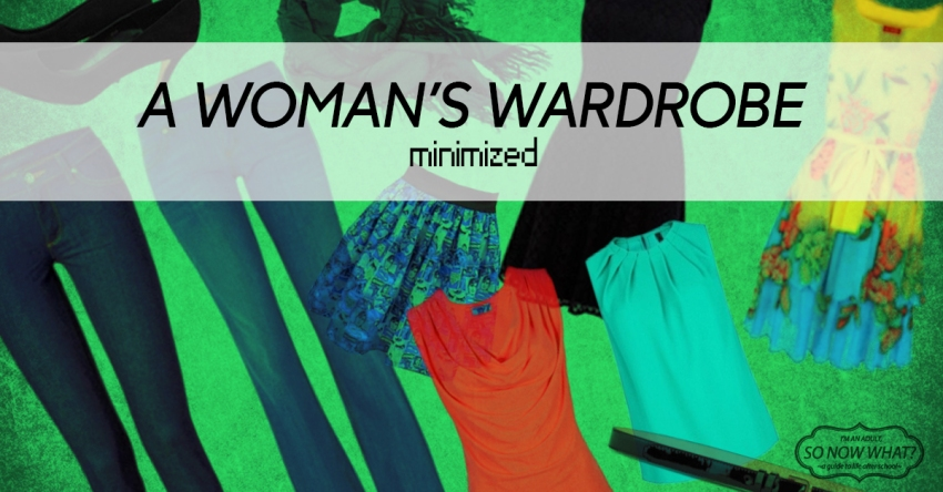 "Minimizing your wardrobe is about get more use out of fewer clothes. I've seen many challenges before as far as ""only 100 pieces of clothes!"" or ""only 33 pieces of clothes!"" but I didn't want to be shooting for a number when I sorted through the closet..."