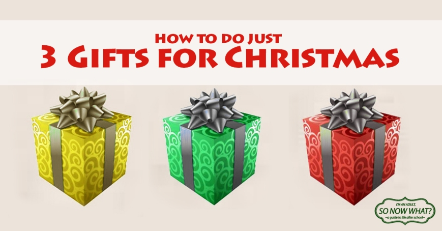 How to do just 3 gifts for Christmas! Something for fun, something for their soul, and something for their body. Just leave that stocking opening for the candy and small knick-knacks ;)
