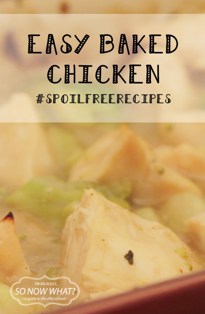 "I'm starting ""spoil free recipes"". A series where I share recipes that use ingredients from your freezer and pantry. So for my first recipe, I'm going to share the one that I use the most often: Baked Chicken."